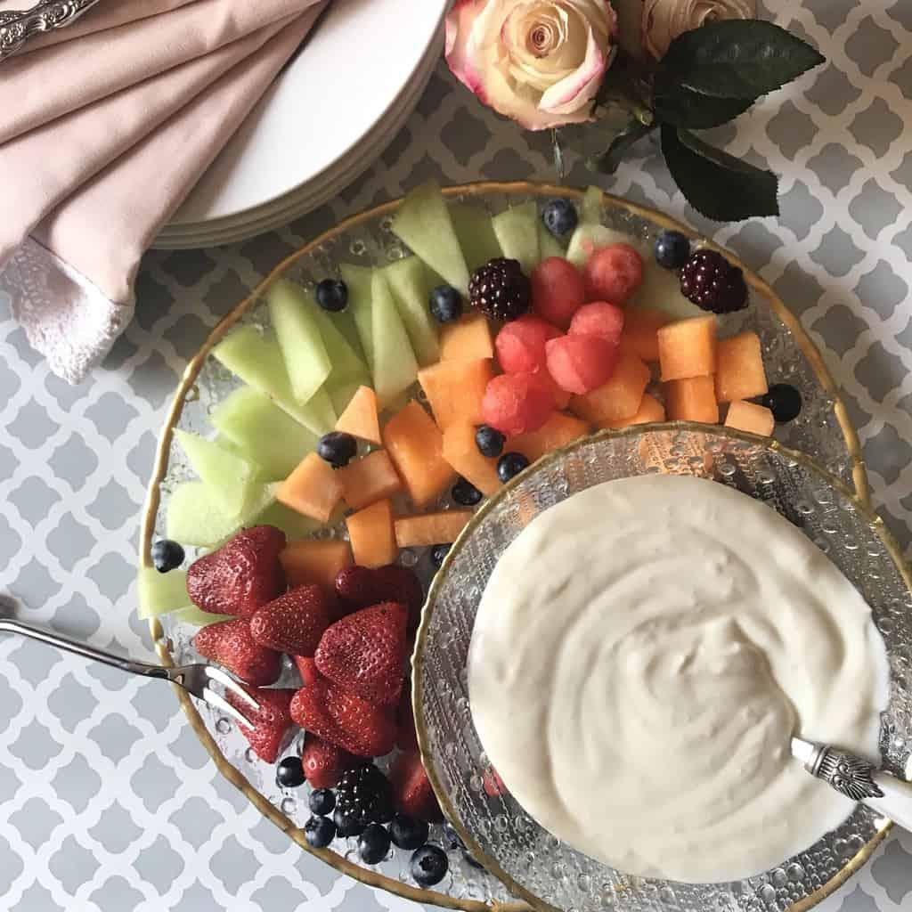Two Ingredient Fruit Dip