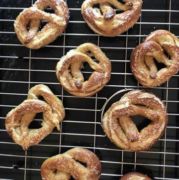 soft chewy pretzels