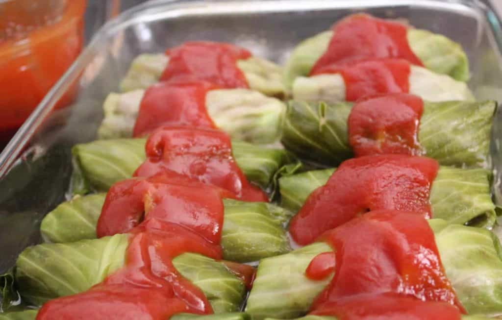 Easy Baked Stuffed Cabbage Rolls