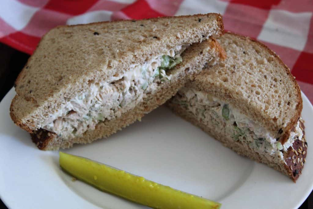 Tuna Sandwich in Half
