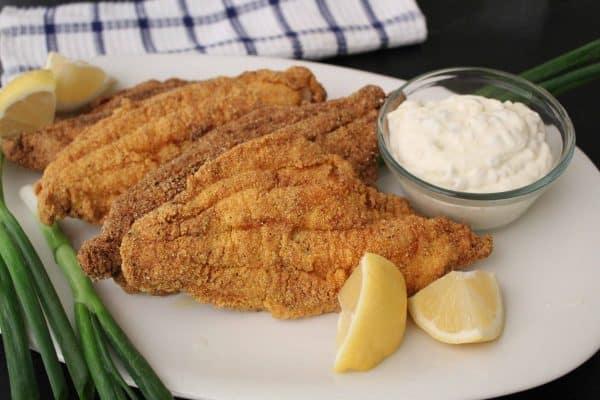 Fried Catfish on a platter