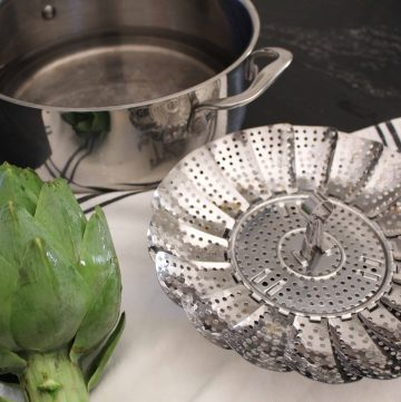 Artichoke and Steaming Platter