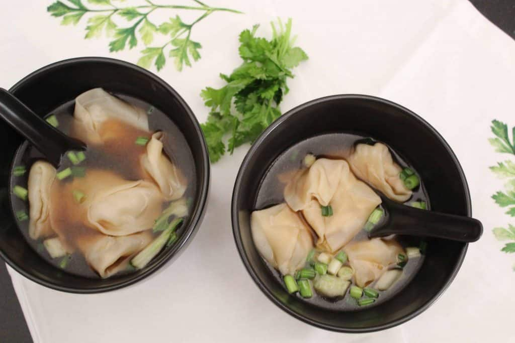 Two Bowls of Won Ton Soup