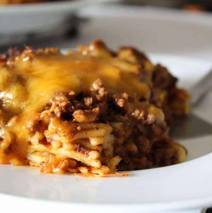 Chili Spaghetti Pie