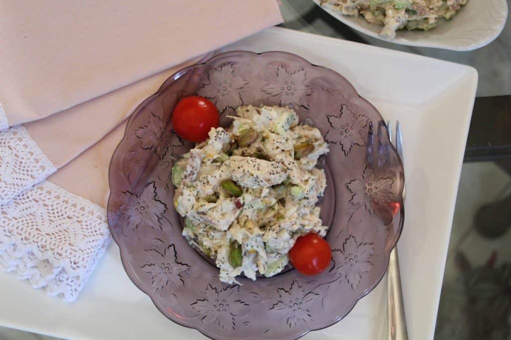 Pistachio Poppy Seed Chicken Salad