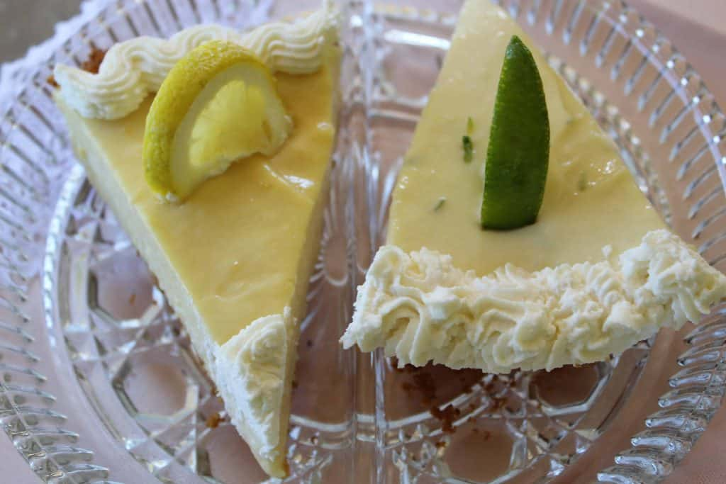 No Bake Key Lime and Lemon Icebox pies