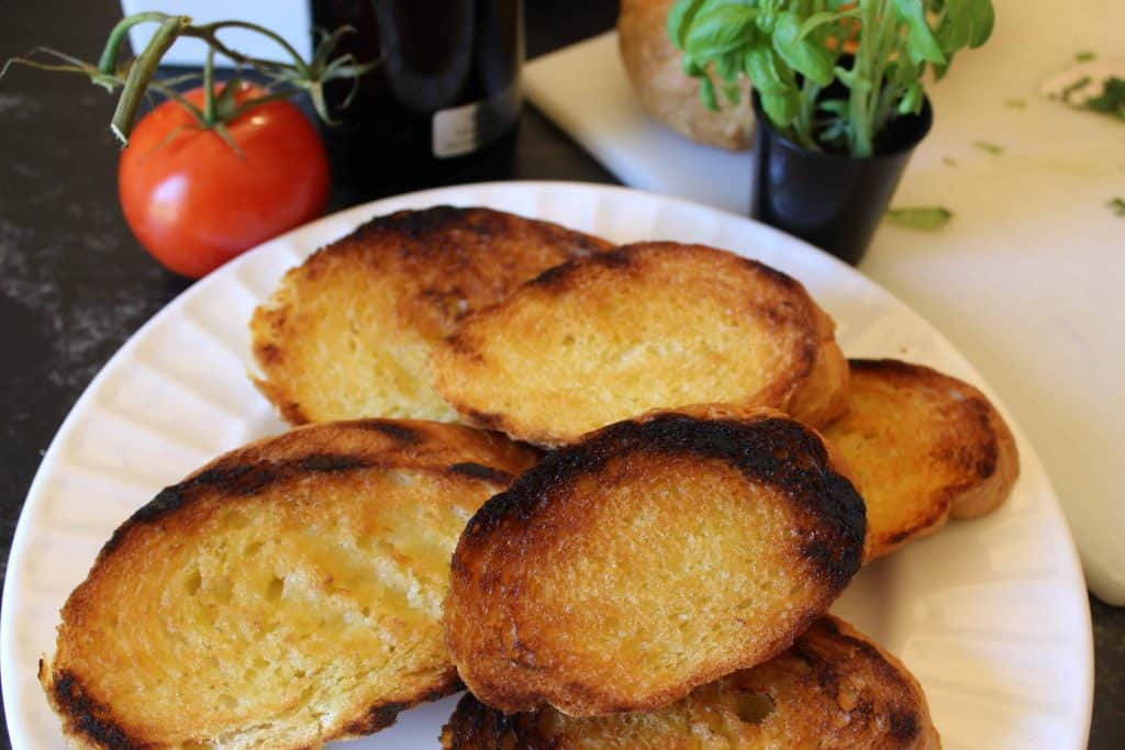 Grilled Italian Bread for Authentic Italian Bruschetta