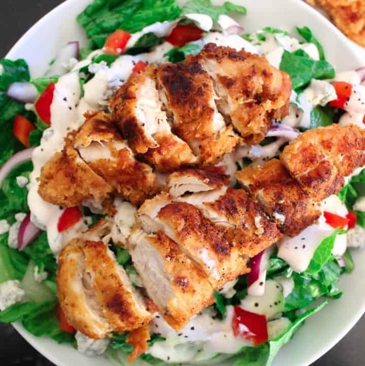 Fried Chicken Tenders Salad