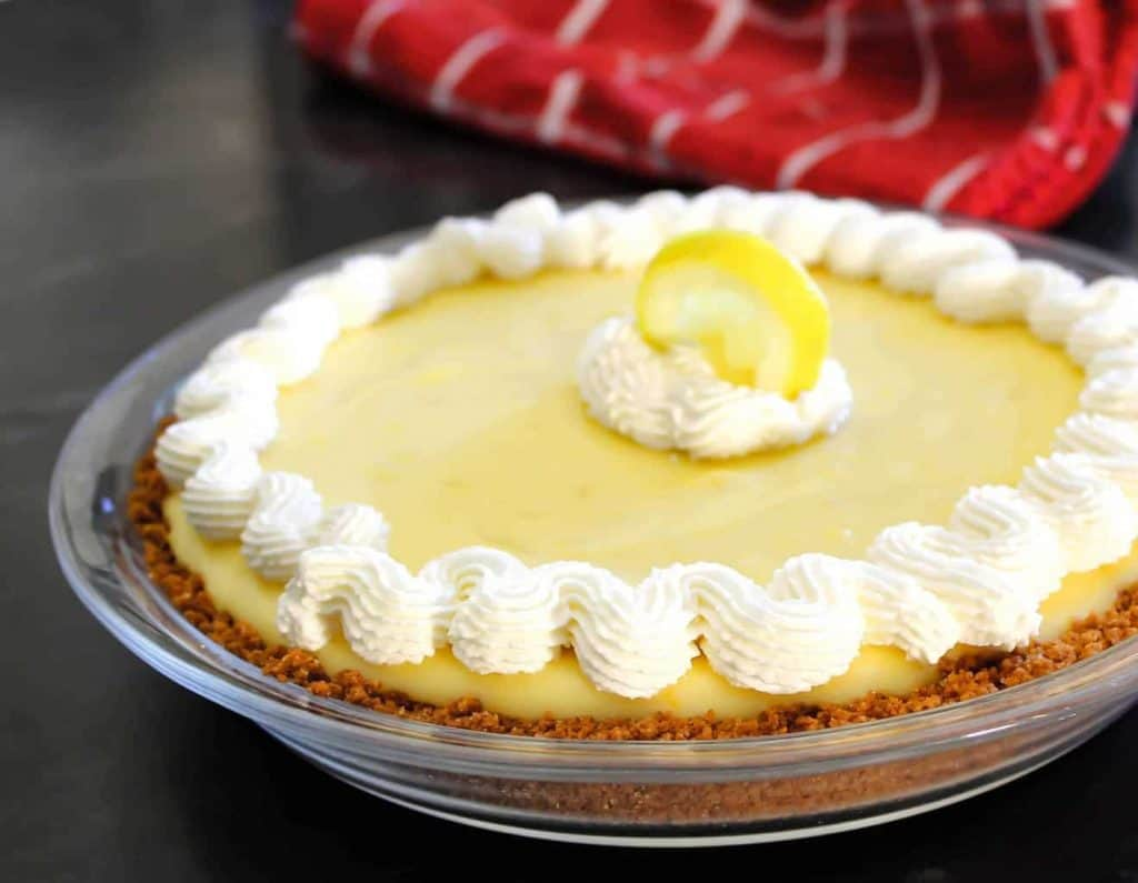 No Bake No Egg Lemon Icebox Pie
