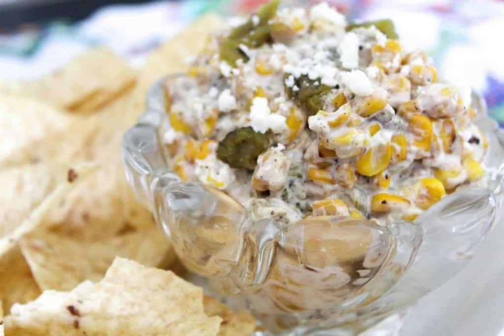 Roasted Corn and Green Chile Dip