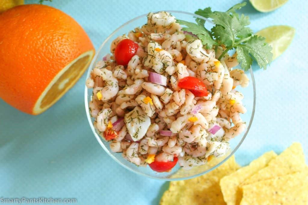 Orange Shrimp and Scallop Ceviche