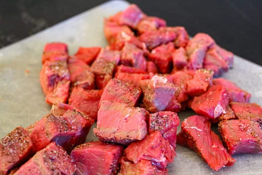 Cubed sirloin for beef stew