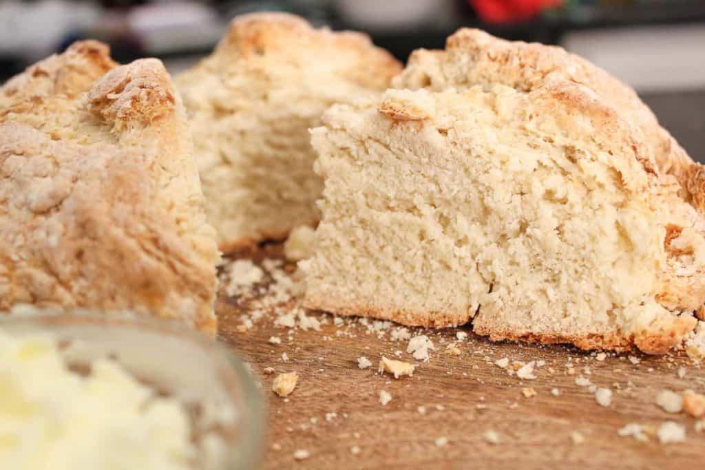 Sliced Irish Soda Bread close up