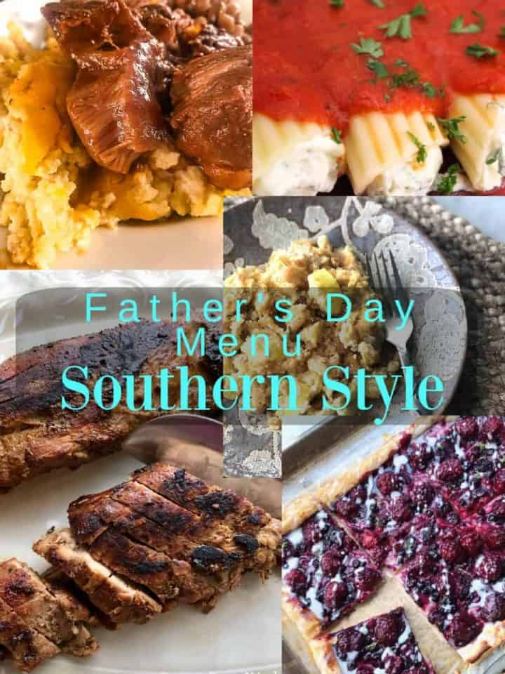 Father's Day menu collage